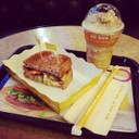 Tuna Club Sandwich & Mocha Blast