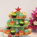 เซ็ต Mini Cupcakes 36 ชิ้น ราคา 1,125 บาท + ชั้นวางคัพเค้กลาย Christmas Tree
