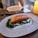 Butter Poached Grilled Atlantic Salmon (340 Bath)