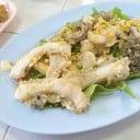 ยำเนื้อท้อง เนื้อปลานุ่มรสชาติจัดจ้านน