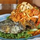 ปลาช่อนลุยสวนเมนูไฮไลท์อร่อยมากแต่แอบแพงไปหน่อย
