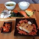 ชุดอาหารกลางวัน ปลากระพงหมักมิโสะย่าง