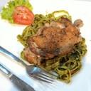 Fettucine with grilled chicken อาหารนานาชาติ อร่อยคะ ต้องลองๆ