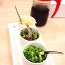 น้ำจิ้มชาบูดำสูตรของร้านและเครื่องเคียงปรุง รสชาติออกหวานนำตามเค็มแซมเปรี้ยว