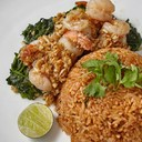 Tom-Yum Fried Rice with Buttered Shrimp and Garlic