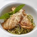 Angel Hair Pasto with Seared Seabass