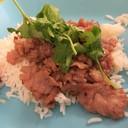 ข้าวราดเนื้อกระเทียมพริกไทย