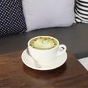 Matcha latte+rose (95.-)