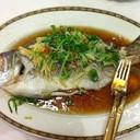 ปลากะพงนึ่งซีอิ๊ว