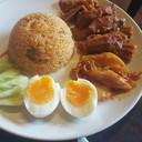 ข้าวผัดกิมจิหมูย่าง