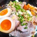ข้าวหน้าหมูชาชูเพิ่มไข่ซอสญี่ปุ่นหมูกรอบ