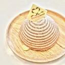 ครีมเกาลัดที่ถูกบรรจงบีบลงบนเนื้อเค้ก ทำให้เมนูนี้ดูอลังการมากๆ