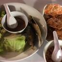 น้ำพริกกะปิปลาทูทอด+ทอดมันปลากราย