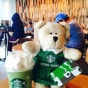 หมีบารีสต้าฮ่องกง Green Tea Frappuccino Tall 160.- @ Starbucks Siam Discover