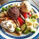 เครปเย็น+ไอศกรีม+วิปครีม+ผลไม้