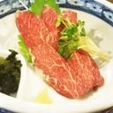 ซาชิมิเนื้อม้า นำเข้ามาจากจังหวัดKumamoto Japan เนื้อนุ่มอร่อยต้องชิมเอง