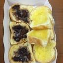 ขนมปังเนยโอวัลตินช็อกโกแลต + เนยน้ำตาล