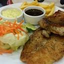 สเต็ปลา+ไก่