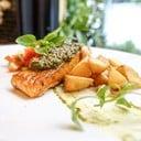 Salmon With Spinach Pesto Sauce