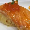 อาหารจานนี้แช่เย็นจัด ตักเข้าปากจะได้กลิ่นหอมของส้มยูสุ ทานแล้วสดชื่นมาก
