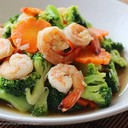 Stir Fried Broccoli with Shrimp  Oak Wine Valley @ Sukhumvit 50 091-765-0008