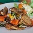 ปลากะพงผัดพริกไทยดำ