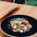 Seafood Pesto Spaghetti