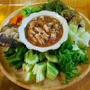 พื้นบ้าน พื้นถิ่น  ต้องกินน้ำชุบ  กะผักเหนาะ  สั่งทุกมื้อ รับรองความอร่อย