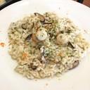 Risotto al funghi e capesante (Scallop and mushroom)