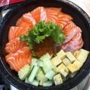 ข้าวแซลมอนด้ง Giant!! 199฿