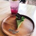 ราสเบอรี่โซดา/greentea cake