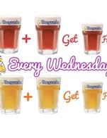 โปรโมชั่น Happy Wednesday กับ Hoegaarden Buy2Get1 FREE!! แถม เบียร์สดฮูการ์เด้น ออริจินัล (แก้วเล็ก), เบียร์สดฮูการ์เด้น โรเซ่ (แก้วเล็ก) เมื่อสั่งเมนู  จำนวน 2 ที่