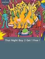 โปรโมชั่น Thai Night Buy 2 Get 1 Free ! แถม Beat Brewing Harmonic Coffee Infused IPA 330 ml. , Spacecraft Liberty1 330 ml. เมื่อสั่งเมนู  จำนวน 2 ที่