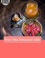 โปรโมชั่น River Vibe Restaurant &Bar ลด 10 บาท เมื่อสั่งเมนูในหมวด Nitro Coffee , E. Cold other, Set tea, B.Hot Coffee, Smoothie , Dessert , A. Special Drink, D. Hot other, C. Cold Coffee
