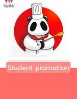 โปรโมชั่น Student promotion ลด 8 % เมื่อสั่งเมนูในหมวด Drinks, Meat, Dessert, BBQ & Fried, Soup, Vegetables & Noodle, Set Menu, Dimsum, Rices