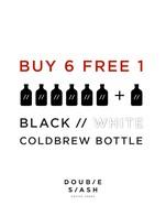 โปรโมชั่น 6 bottle of any COLDBREW free 1  แถม BLACK // COLDBREW BOTTLE, WHITE // COLDBREW BOTTLE เมื่อสั่งเมนู  จำนวน 6 ที่