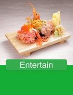 โปรโมชั่น Entertain ลด 100 % เมื่อสั่งเมนู Salmon Sashimi, Sushi Set 10, Okaka Onigiri, Asahi Bottle 620ml, Kinpira Gobo, Kake Udon, Jim Beam Highball M (700ml), Wagyu Tataki, Gyoza, Komasa no Umeshu (1800ml), Ikura Afureru Kao, Atsukan ( Hot Sake )  S, Jinro 24, Add ume, Banpuku Futo Maki, Okura Maki, Coke Zero, Yaki Udon, Kaku Highball   L (1000ml), Hokke Yaki, Chikuwa Kyuri, Coke, Maguro Nanban, Burikama Nitsuke, Kikusui No Karakushi S, Tenpura Mori, Shishamo Yaki, Hamaguri Sakamushi, Yaki soba, Kabocha, Water, Teba Saki, Calpis Water, Orange Juice, Shio Kara, Ikageso Age, Suntory BT, Hamachi Uzusukuri, Takowasabi, Salmon Uzusukuri, Tenmari Roll, Hotate Nigiri, Salmon Onigiri, Tomato Maki, Nama Kaki 1 Pax, Lime, Calpis Soda, Komasa no Umeshu (700ml), Natto Maki, Salmon Kabuto Ni, Gohan, Kinoko Hoiru, Kaku Highball   M (640ml), Sushi Set 7, Shirauo Salad, Ika Nigiri, Takoyaki, Nigori Yuzu, Soda, Banpuku Highball S, Peach Sour, Free Ice, Sashimi Mori 5, Kawa Ebi Age, Saki Ika Tenpura, ToriKawa Teri, Aji Yaki, ข้าวหน้ารวมย่าง, Ume Kyuri, Kuro Kirishima, Gyu Harami Teri Yaki, Sprite, Sapporo Bottle  , Yum Shio Kara, เพิ่มshot, Nokke Sushi, Unagi Don, Kaisen Don, Aburi sushi Set, Reba Nira Itame, Yuzu Honey Sour, Apple Juice, Tsukune Cheese, Teba Age, Oyako Don, Tofu Salad, Masumi Karakuchi Gold, Junmai Nigori, Ninniku Rice, Salmon Yaki, Buta Kimchi Itame, Ice, Asahi Draft M (640ml), Mabo Tofu, Kushiyaki Set 10, Gyu Harami Shio Yaki, Hakatsuru ( Matsu Sake ), Hot Water, Negima, Tuna Spicy Roll, Kyogetsu, Jim Beam 700ml, Koku Lemon Sour 1 Set, Hotate Roll, Nama Hakutsuru, Sunagimo itame, Hotate Bata Yaki, Salmon Kabuto Yaki, Tomino Hozan, Mentaiko, Buta Shoga Itame, Kaku Highball   S (330ml), Ika Yaki, Aka Kirishima, Yum Sashimi, Free water, Kirinzan Dento Karakuchi, Kakuni, Tonkatsu, Hakutake Umepon, Hiyakko, Miso soup, Age Dashi Tofu, Ginger Ale, Asupara Maki, Buta Bara, Apple Beer   640ml, Green Tea Free Refill, Ume Onigiri, Jim Beam Highball L (1000ml), Bijojfu Tok