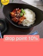 โปรโมชั่น drop point 10% ลด 10 % เมื่อสั่งเมนู เส้นหมี่ผัดกะปิกุ้งสะตอ (Stir Fried Vermicelli with Shrimp Paste), ข้าวหมูคาราเมลแม็กกี้ (MAGGI Caramelized Pork with Rice), ข้าวหมูอบไข่ยางมะตูม (Pork Stew with Rice), ข้าวหน้าตับผัดกระทียมพริกไทย (Fried Pork Liver with Garlic and Rice), เส้นใหญ่ผัดไข่เค็มกุ้ง (Stir Fried Rice Noodle and Shrimp with Salted Egg Sauce), ข้าวกะเพราเนื้อไข่ดาว (Stir Fried Beef and Basil with Rice), สุกี้แห้งไก่ไข่ย้อย (Stir Fried Suki with Chickens), ข้าวหน้าไก่แม็กกี้ (MAGGI Chicken Gravy with Rice), ข้าวผัดน้ำพริกกะปิป้าต้อย (Thai Shrimp Paste Fried Rice), ข้าวหน้าสตูลิ้นวัว (Beef Tongue Stew with Rice), สเต็กอกไก่อบซอสกระเทียม (Chicken Breast Steak with Garlic Sauce), ข้าวผัดกุ้งคั่วพริกแม็กกี้ (MAGGI Shirmp Fried Rice With Chili), ข้าวไก่ย่างจิ้มแจ่วแม็กกี้(MAGGI Grilled Chicken with Rice), ผัดเส้นจันท์อนุสาวรีย์ (Rice Noodle Pad Thai), กระเพาะปลาแม็กกี้ (MAGGI Fish Maw Soup), ข้าวไก่อบแม็กกี้ (MAGGI Braised Chicken with Rice)