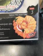 """โปรโมชั่น โปรโมชั่นสุดพิเศษ สำหรับช่วงเวลาสุดพิเศษ Salmon Mini Heart Cake เหลือเพียง 799 ลดเหลือ 799 บาท เมื่อสั่งเมนู Salmon Mini Heart Cake"""""""