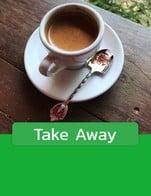 โปรโมชั่น Take Away ลด 20 บาท เมื่อสั่งเมนูในหมวด Espresso Bar Iced Menu, Espresso Bar Frappe Menu, Tea & Drinks, Fusion Bar, Espresso Bar Hot Menu