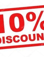 โปรโมชั่น Discount 10% ลด 10 % เมื่อสั่งเมนูในหมวด ต้ม/แกง, ยำ เจ, ทอด/ทานเล่น, ทานเล่น เจ, Steak, เมนูพิเศษ, ผัด-อบ เจ, น้ำแกง เจ, ผัด/อบ, ยำ