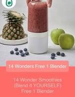 โปรโมชั่น 14 Wonder Smoothies (Blend it YOURSELF) Free 1 Blender แถม Wonder Blender เมื่อสั่งเมนูในหมวด Detox, Vitamin, Energy จำนวน 1 ที่