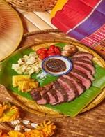 โปรโมชั่น 15% steak lover ลด 15 % เมื่อสั่งเมนู สเต็กเนื้อสันไหล่ A5, ทีโบนเจ้าพระยา 500g., สันใน ชาร์โรเล่ส์ A5 250 กรัม, สันสะโพกไทย-วากิว 300 กรัม