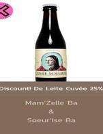 โปรโมชั่น Discount! De Leite Cuvée 25% ลด 25 % เมื่อสั่งเมนู De Leite Cuvée Soeur'Ise Ba 330 ml, De Leite Cuvée Mam'Zelle Ba 330 ml