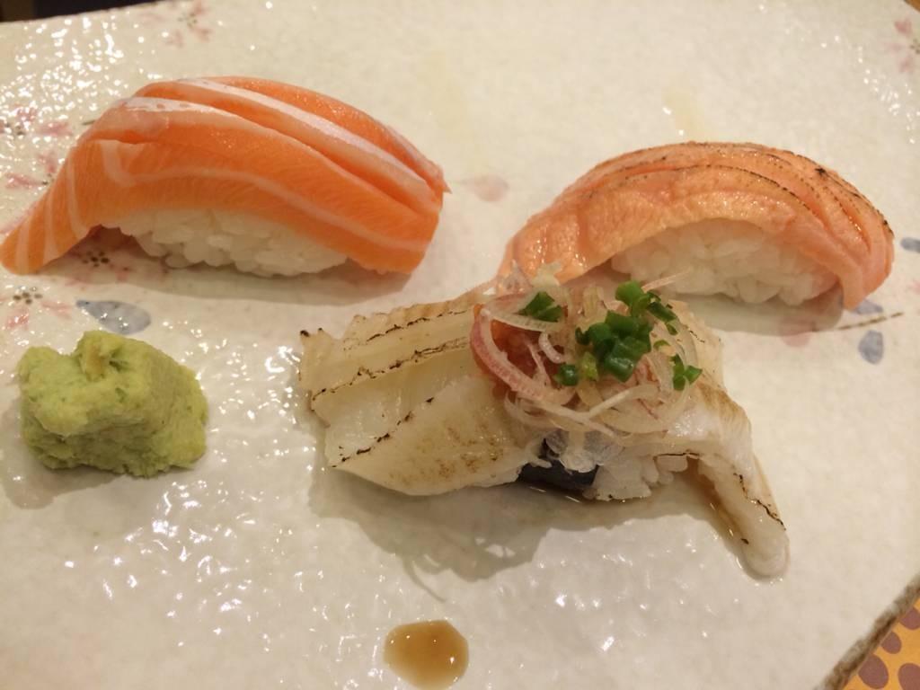 Engawa, Salmon Sushi