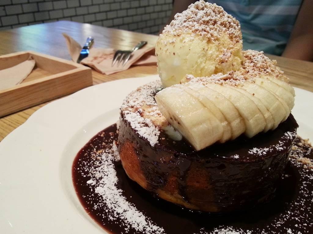 Nutella Pancake soufflé (190 บาท)