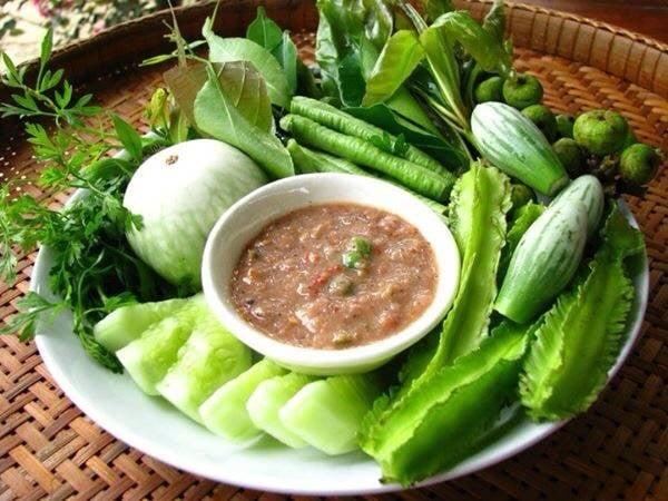 Image result for น้ำพริกผักสด