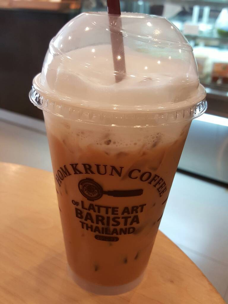 Iced latte caffe จ๊ะ