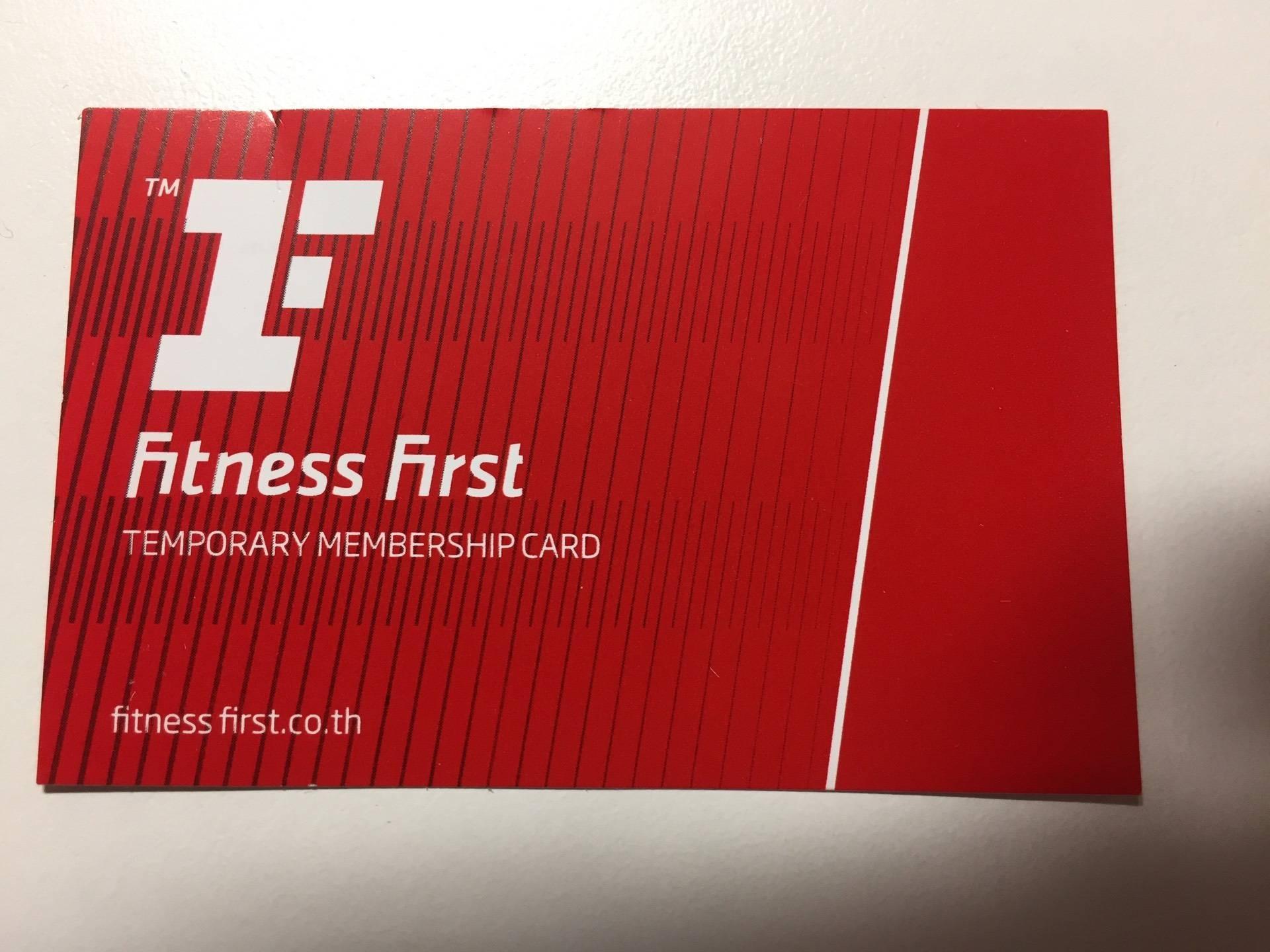 ป้ายราคาหรือสมุดเมนู ที่ ร้าน Fitness First Platinum Sathorn Square