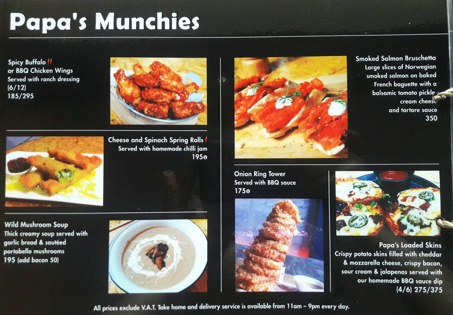 menu of papas kitchen - Papas Kitchen